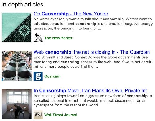 Google revamps search to feature in-depth articles