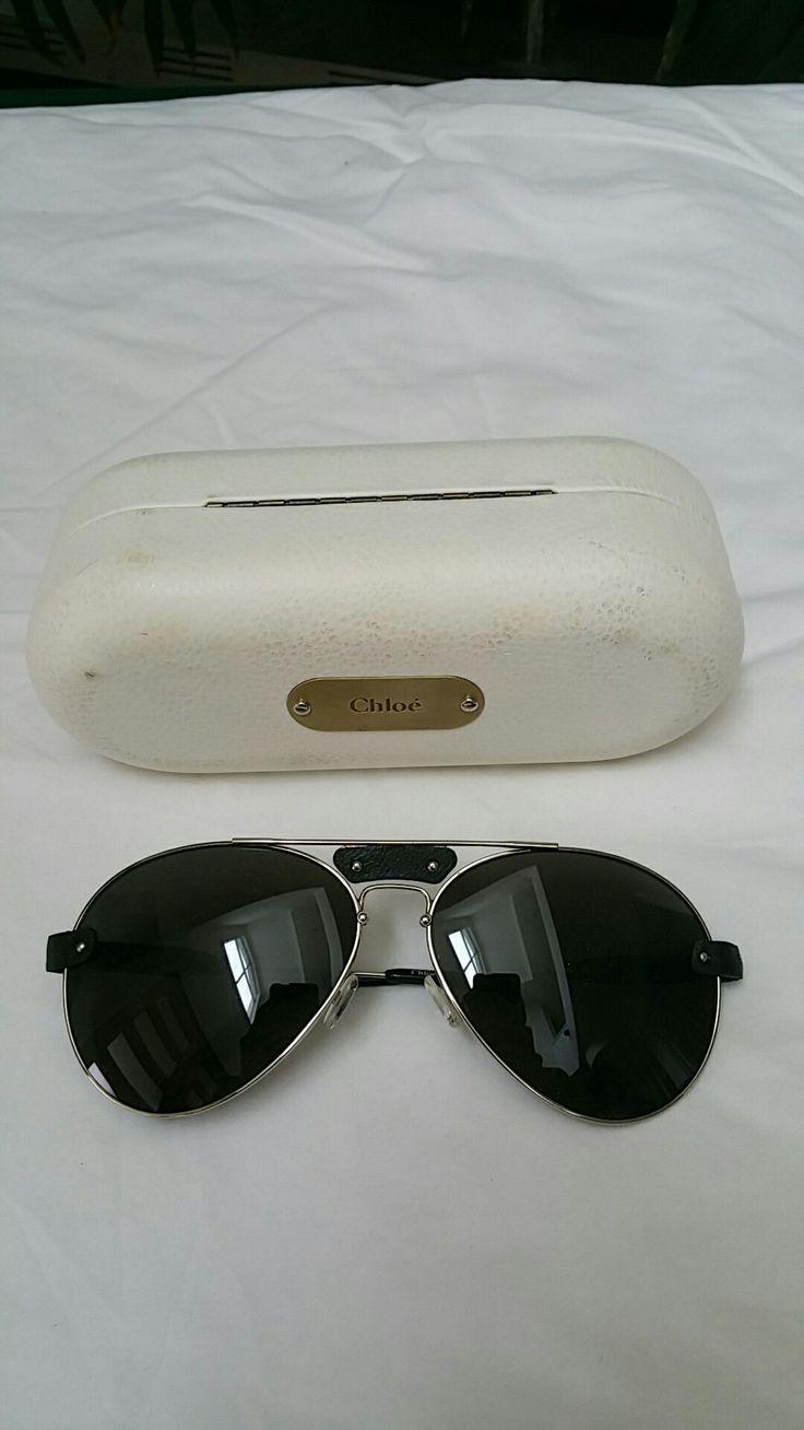 Chloe Aviator sunglasses w case Womens 9/10 $90 #chloe #sunglasses #aviators #fashion #style #luxury #ebay