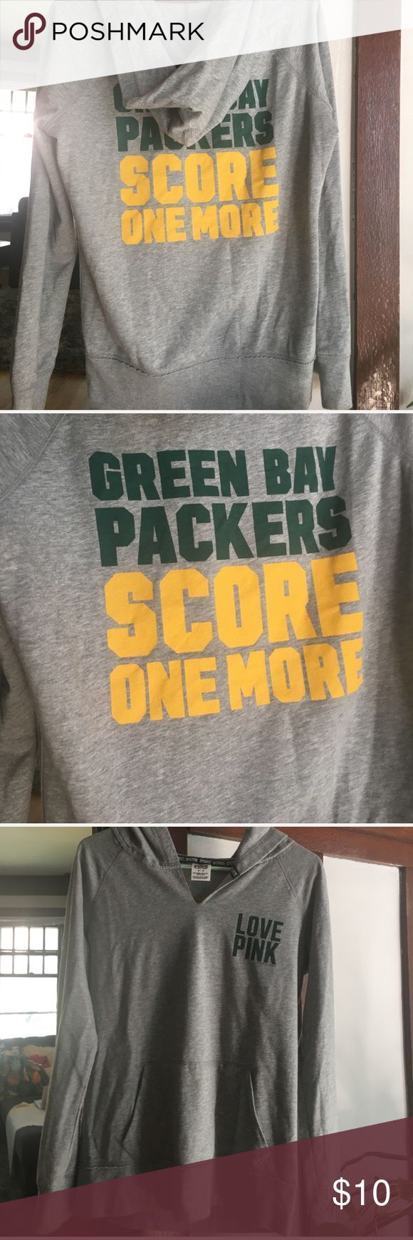 "Victoria Secret PINK Green Bay Packers Sweatshirt Size Medium Green Bay Packers ""Score One More"" Sweatshirt. Great Condition! PINK Sweaters Crew & Scoop Necks"