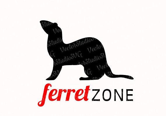 Vector Clipart By Eti Ferret Svg Silhouette Ferret Lover