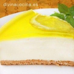 tarta de queso y limon porcion