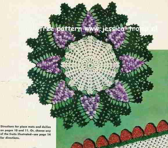 Grape Doily free vintage crochet doilies patterns This one is easy to make, love it!