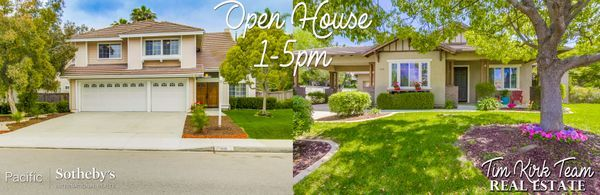 Another day of Open Houses today from 1-5pm! Stop by 820 Culloden Court in Fallbrook & 318 Lustrosos Street in Oceanside to tour our listings and meet our team! Call us for more info 760.704.9252