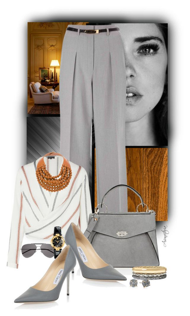 Sin título #2058 by asunvitoria on Polyvore featuring polyvore, fashion, style, Miss Selfridge, Jimmy Choo, Proenza Schouler, Rossana Fani, Nicole By Nicole Miller, Versace, Melissa Joy Manning, Yves Saint Laurent and clothing