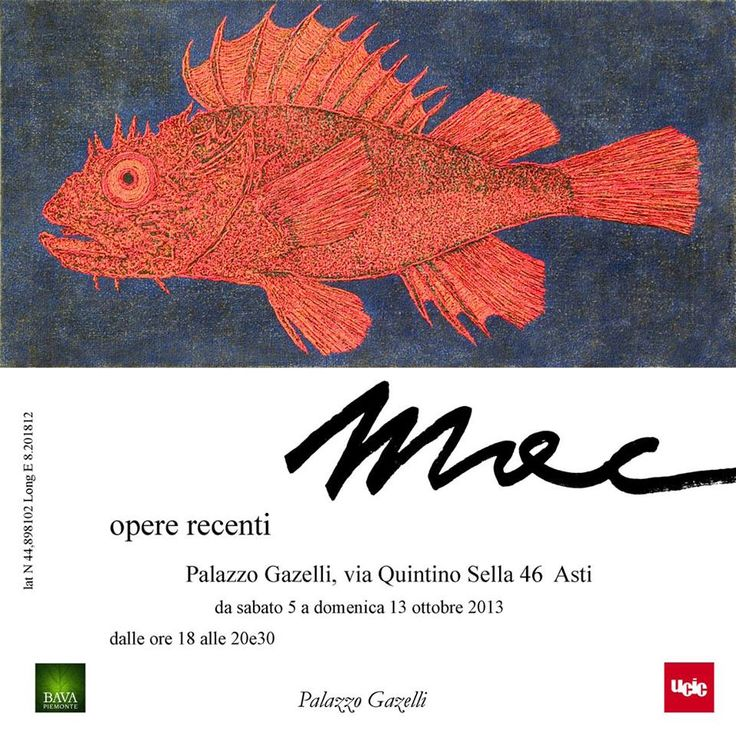 "Artist ""Mac""'s exposition in Asti, Italy - 5th-13th of october 2013 - Palazzo Gazelli, via Quintino Sella 46 #art #paintings"