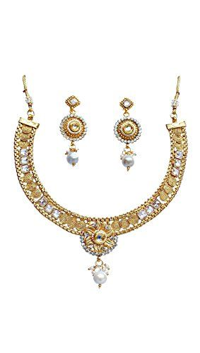 Elegant Dazzling Indian Bollywood Gold Plated White Pearl... https://www.amazon.com/dp/B0713PNWZT/ref=cm_sw_r_pi_dp_x_ceE.ybGZRRKW7