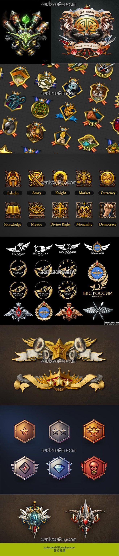 1500个徽章 阵营勋章 等级奖章 奖牌...