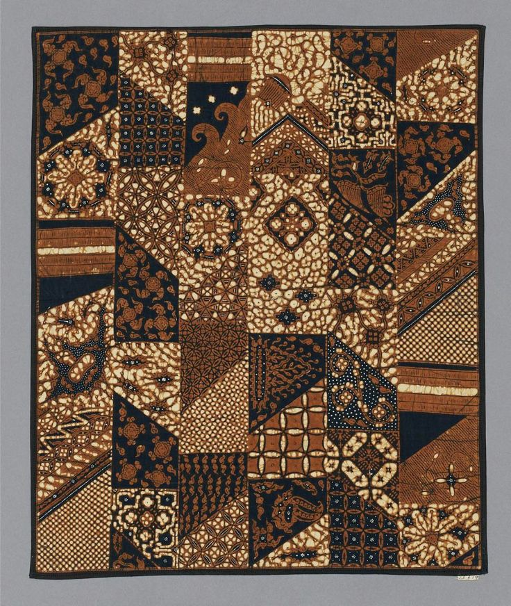 Batik sample Indonesian (Javanese), Dutch colonial rule, late 19th century_ http://www.mfa.org/collections/object/batik-sample-67916