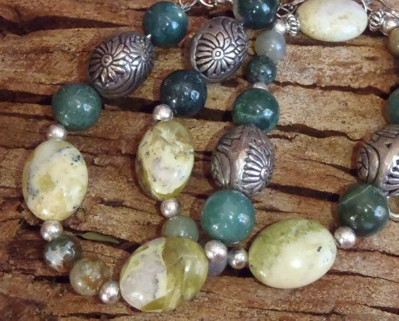 Handmade Back to Nature Earthy looking gemstone by BrigittesJewels, $62.00
