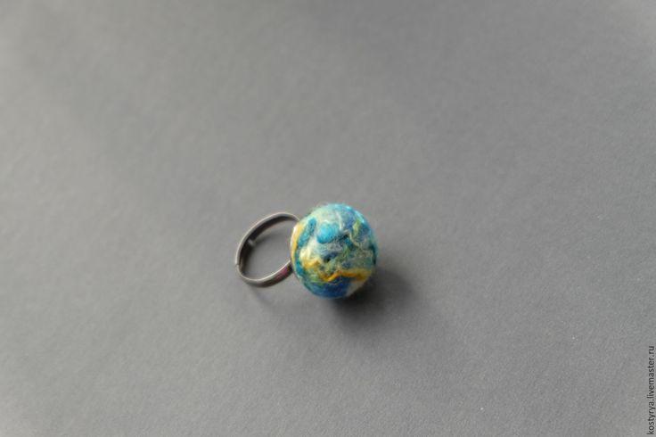 """Купить Кольцо из войлока """"Галактика"""" - комбинированный, кольцо, кольцо в подарок, кольцо из войлока, кольцо из шерсти"""