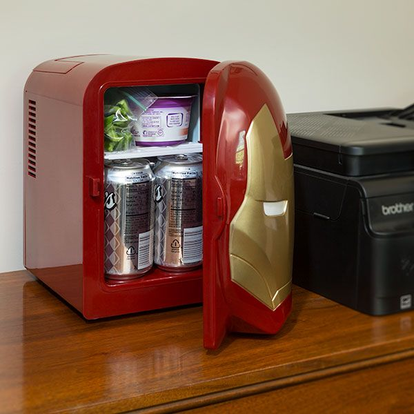 Iron Man Mini Fridge Powered By Stark Industries For A More Peaceful World Through Snacking -  #ironman #marvel #office