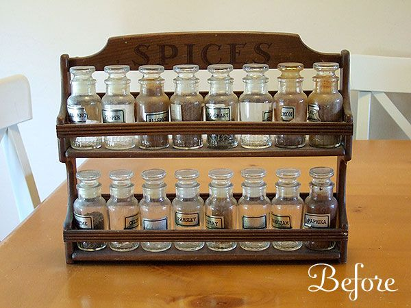 Old spice rack. I knew I should not have thrown this away...but after 37 years the spices were so old....but new IDEAS...=bead,button storage