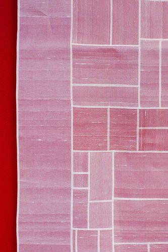 pink pojagi (Korean, linen patchwork)