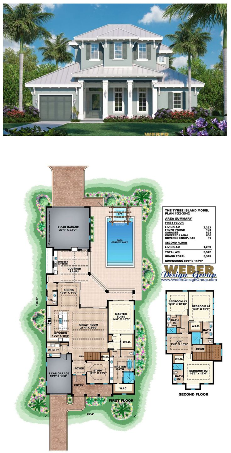 11 best Tropical House Plans images – Tropical House Floor Plan