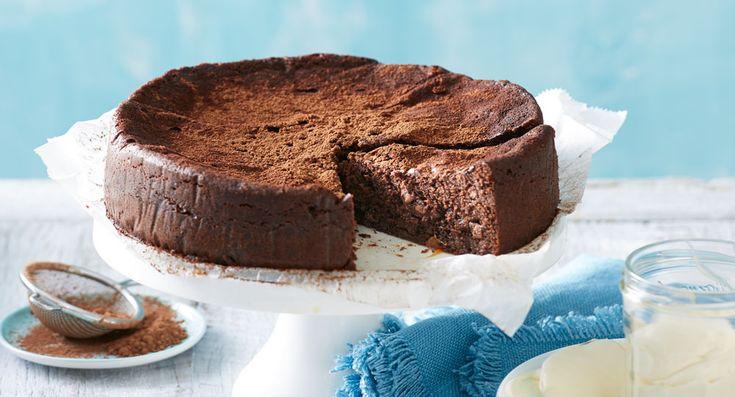 'Salt dough' chocolate caramel cake