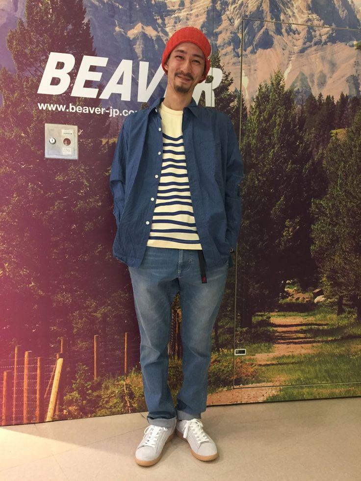 BEAVER Teeフェス katoのウェーブteeでベーシックスタイルにスパイスを^_^ スタッフ身長170cm