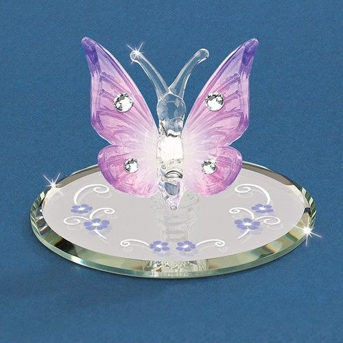 """- Made with Swarovski Elements - Glass - Handcrafted by Glass Baron - Gift Boxed - 2"""" Tall"""
