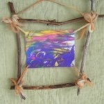 Woodland Stick Frame directions...could use for The Legend of the Indian Paintbrush lesson