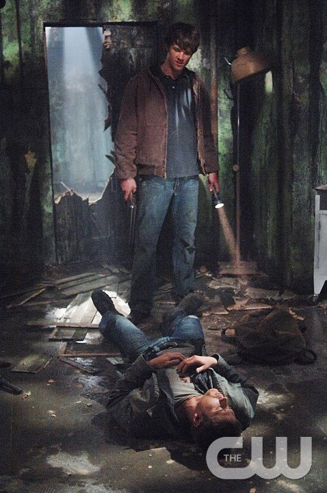 "Supernatural Season 1 Episode 9 - ""Asylum"" Pictured (top-bottom): Jared Padalecki as Sam Winchester, Jensen Ackles as Dean Winchester Credit: © The WB/Sergei Bachlakov"