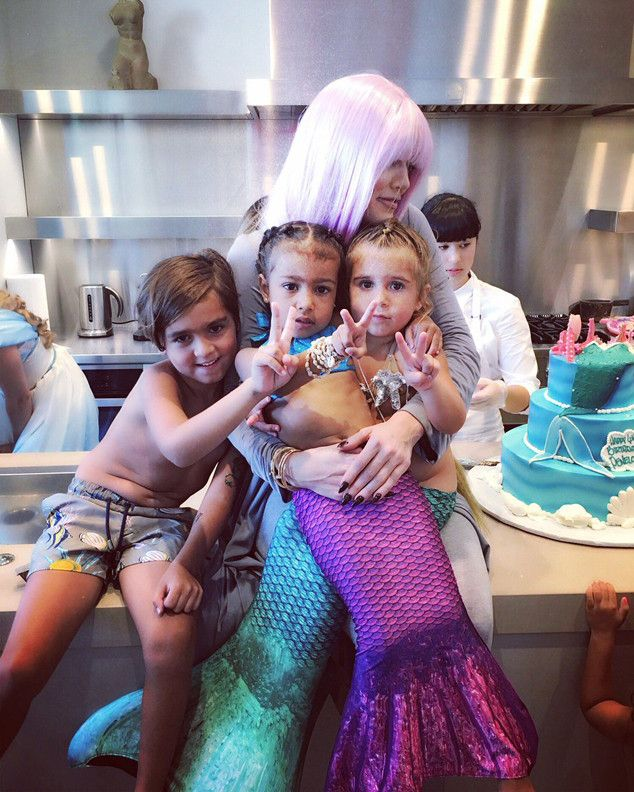 North West and Penelope Disick Make the Cutest Mermaid Princesses During Family Birthday Party | E! News