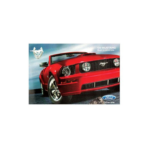 2009 Mustang-Rush to Drive One Premium Giclee Print ($65) ❤ liked on Polyvore featuring home, home decor, wall art, collections, mobile cases by device, mobile phone cases, other collections, subjects, giclee wall art and giclee poster