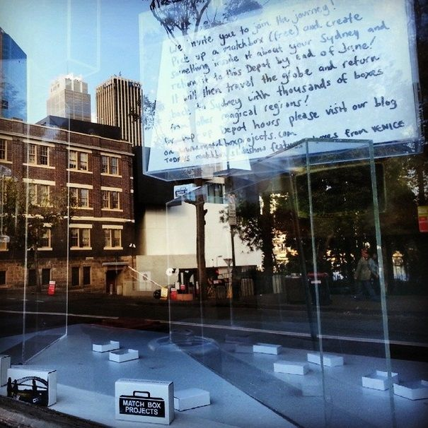 The Match Box Project is back! And you're invited to join the journey! Window installation at 85 George Street, and depot days and times coming soon...http://www.matchboxprojects.com/blog.php
