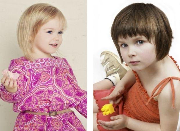 детские стрижки для девочек фото на короткие
