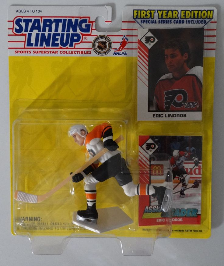 1993 Starting Lineup Eric Lindros Philadelphia Flyers Kenner Hockey NHL Figure #Kenner