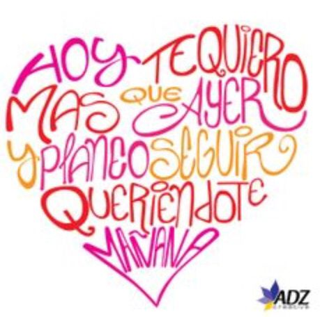 te quiero infinitamente...