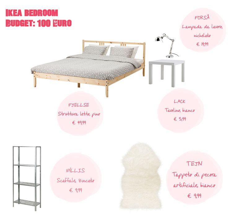 Ikea arredare la camera da letto con 100 euro consigli dal blog pinterest ikea piccoli - Posto letto a milano a 100 euro ...