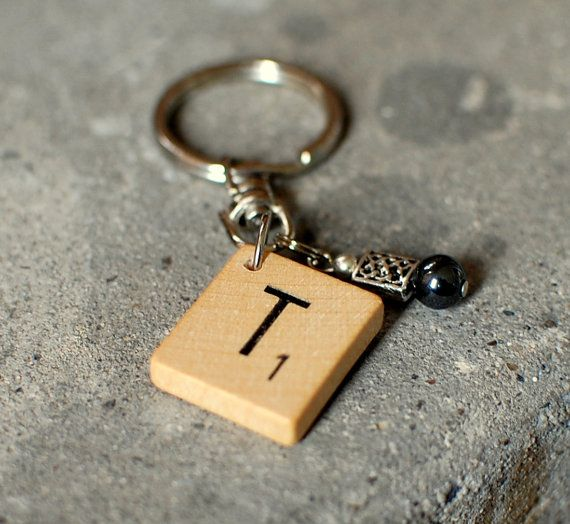 Scrablle keychain