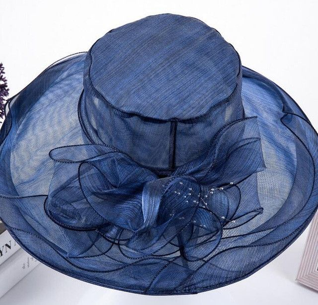 2017 summer hats for women Fashion Vintage Linen Beach hat outdoor flower silk hat Feminino Fedora Hat Ladies Chapeau 7 Colors