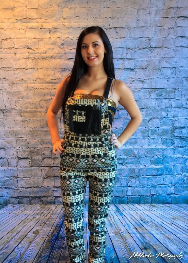 Ladies Star Overalls - Aztec Skulls Womens Rat Baby Funky Ladies   Nwt
