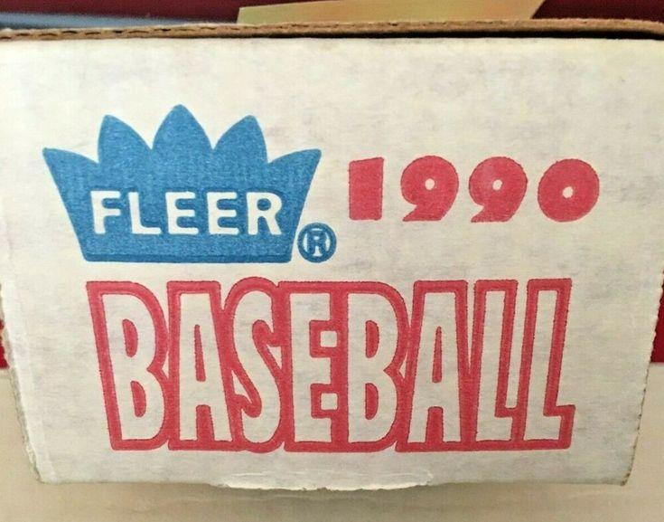 1990 fleer baseball card complete set seal on box torn
