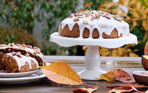 Mrkvový+dort+s+dýní+a+ořechy+je+králem+pohoštění+Halloweenu