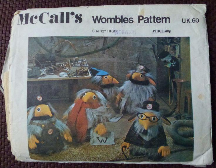 Vintage Wombles sewing pattern