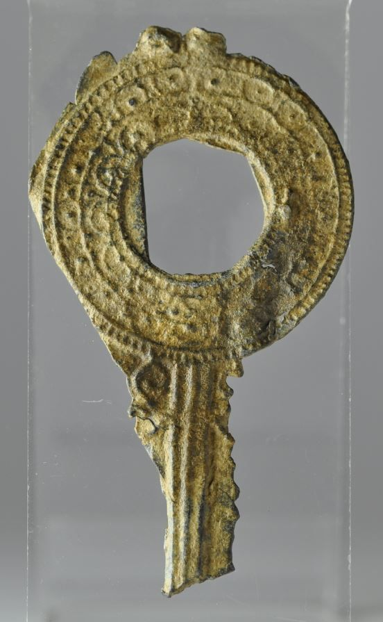 Roman votive lead mirror, 2nd-4th century A.D. Miniature lead mirror with decoration. Private collection