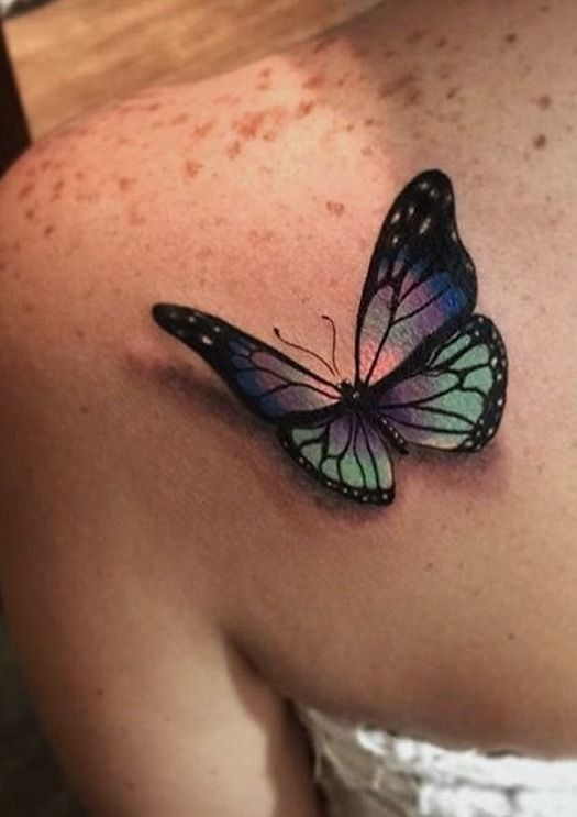 30 best rainbow butterfly tattoo images on pinterest. Black Bedroom Furniture Sets. Home Design Ideas