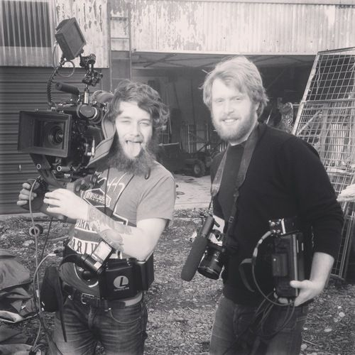 DP Alan Hugh Waddingham, and 2nd AC Matt Kofoed on location in Taylorville, NZ. #holdyourbreath #35mm