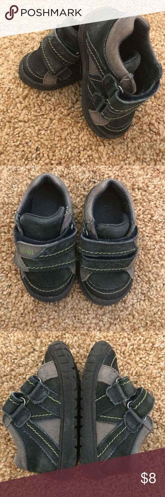 Umi Braden shoes. Boys size 5. Umi Braden shoes. Outside shows some superficial discoloring due to the material. However, the soles are in great condition. Lots of life left in these. I've priced the shoes taking that into consideration. Pet and smoke free home. Five star rating. Top 10 % seller. Umi Shoes Baby & Walker