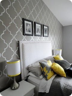 grey and charcoal bedroom