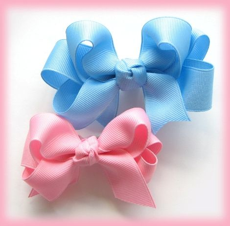 Instruction--How to make double ruffle ribbon 2-layer hairbow/hair bow clip - Hip Girl Boutique Free Hair Bow Instructions--Learn how to make hairbows and hair clips, FREE!