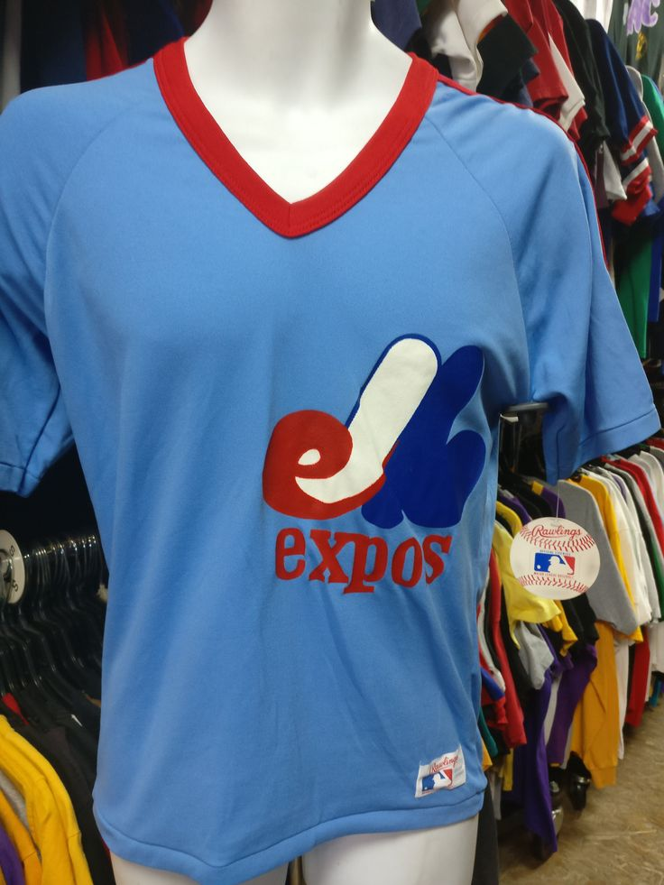 Vintage 80s MONTREAL EXPOS MLB Rawlings T-Shirt S (Deadstock)