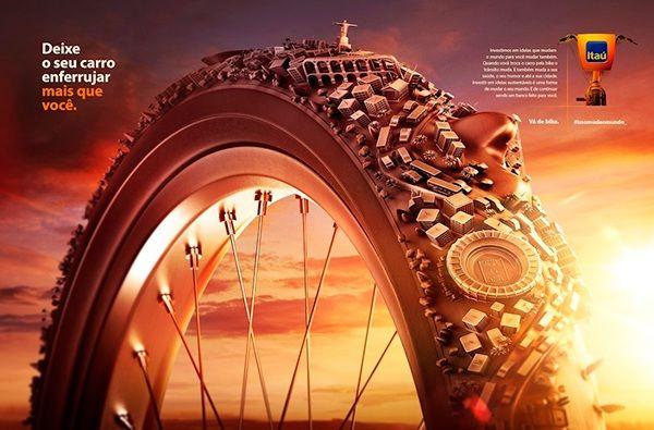 Bike City Illustration.