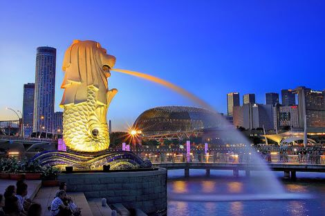 Famous Singapore landmark.