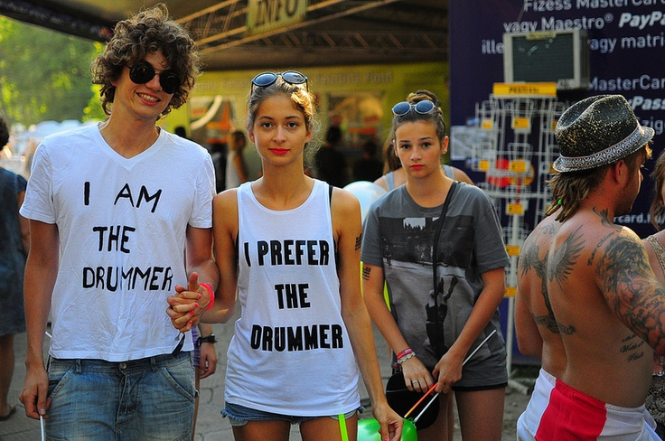 I Prefer the Drummer - spotted at #Sziget Festival in Budapest, Hungary