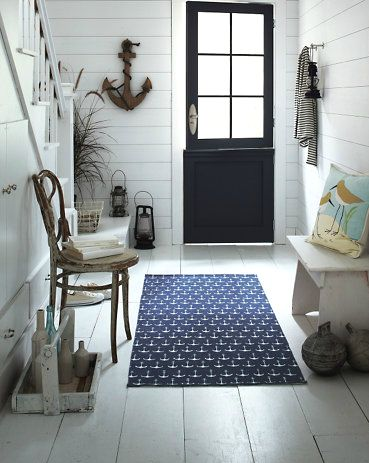 Beach, Coastal and Nautical Rug Sources at Completely Coastal: http://www.completely-coastal.com/2010/03/nautical-rugs.html Shop the Look!