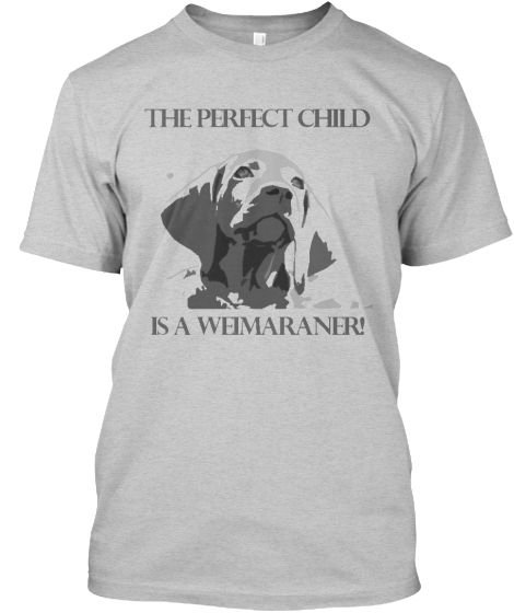 The Perfect Child is a Weimaraner!