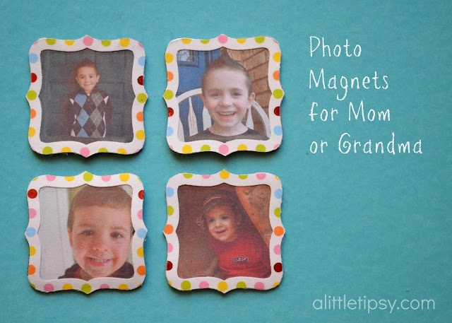 Photo Gifts For Grandparents >> A Little Tipsy: Gifts for Mom: Easy Photo Magnets #12MonthsofMartha | Crafts | Pinterest | Photo ...