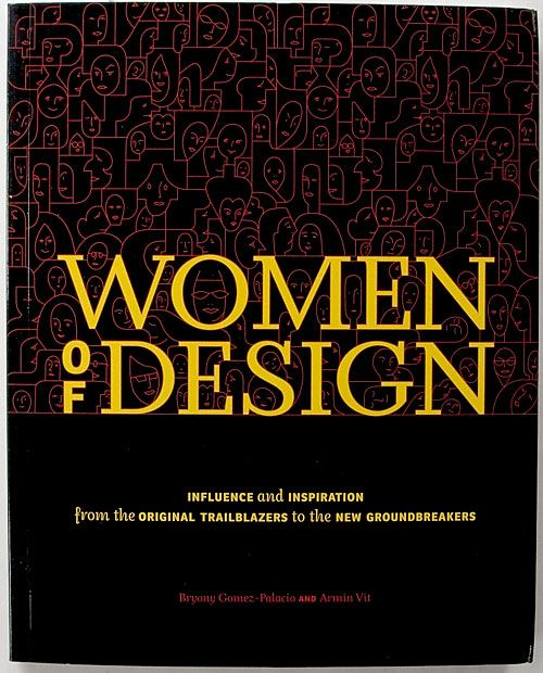 women of design book cover by marian bantjes. if you look closely, you will see that the pattern is made up of different women's faces in profile or otherwise. So fun!
